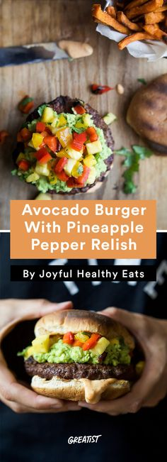 2. Smoky Avocado Burger With Pineapple Pepper Relish  #healthier #fourthofjuly #recipes http://greatist.com/eat/summer-recipes-for-a-healthier-cookout