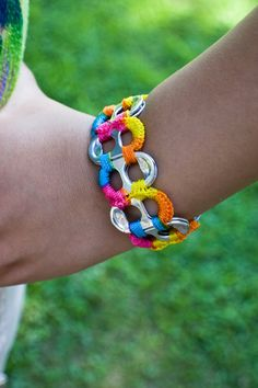 can tab crafts, cute crafts, soda can crafts, diy crafts, crafts for. Can Tab Crafts, Cute Crafts, Arts And Crafts, Diy Crafts, Pop Tab Bracelet, Diy Bracelet, Wrap Bracelets, Pandora Bracelets, Soda Tabs