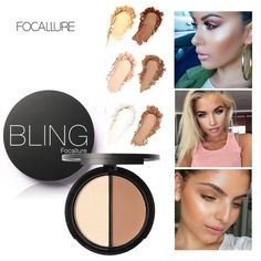 FOCALLURE Bling Makeup Blush Bronzer & Highlighter #bling #makeup #blush #brozer #highlighter #palette #compact #affordable #goodquality