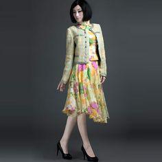 Check Thin Woolen Small Jacket Coats - $209 - SKU: 199602 - Buy Now: http://elegente.com/nzx.html #ChineseladyQipao #Qipao #Cheongsam