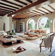 Wondrous Luxury Living Room Interior Design - Page 38 of 46 Spanish Style Homes, Spanish House, Spanish Style Interiors, Spanish Interior, Spanish Revival, Spanish Colonial, Home Interior Design, Interior Architecture, Room Interior
