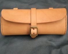 Small leather bicycle tool bag by BlackTreeShop on Etsy