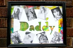 5-Minute DIY Father's Day Gift--what a great use for baby/toddler abstract art!