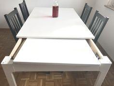 My new extendible table from Ikea!  #ikea #table #diningroom #livingroom #home #homeinteriors #interiors
