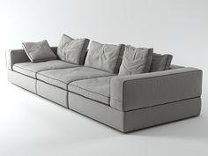 Flexform Life Sofa 3-Seat 3d model |  N/A