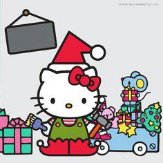 Duende Hello Kitty Christmas, Merry Little Christmas, Christmas Time, Hello Kitty My Melody, Sanrio Hello Kitty, Christmas Cartoons, Hello Kitty Wallpaper, Sanrio Characters, Colorful Wallpaper