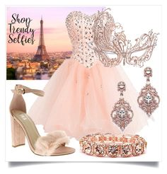 """""""Rose Gold Masquerade"""" by shoptrendyselfies ❤ liked on Polyvore"""