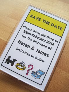 Monopoly Save the Date Magnet