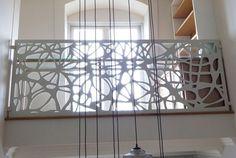 laser cut balustrade screen aluminium