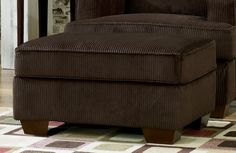 Atmore - Chocolate Ottoman By Ashley Furniture