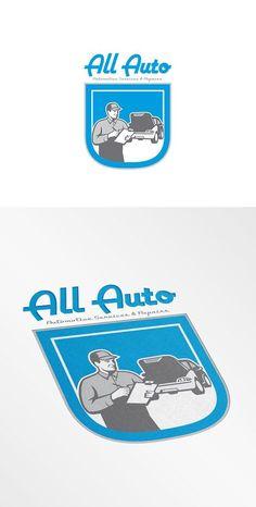 All Auto Automotive Services Logo by patrimonio on @creativemarket