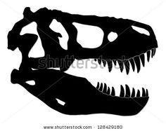 tyrannosaur skull/ dinosaur/ silhouette illustration by Zsschreiner, via ShutterStock