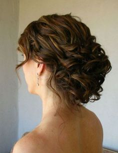 Wedding hairstyles for curly hair!                                                                                                                                                      More