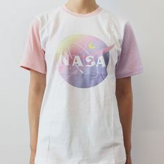 SOFT GRUNGE - TUMBLR AESTHETIC -PASTEL NASA UNISEX TEE