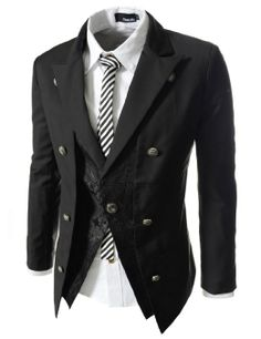Men's Clothing Suits & Blazers Independent Mens Double Breasted Slim Fit Formal Casual Jacket For Men Medium Long Trench Coat Mens Black Blue Gray Green Suits Jacket Male