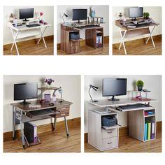 Fold Away Furniture computer-desk-pc-table-folding-home-office-furniture-l-shape-black