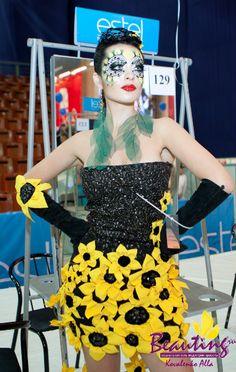 My work at the International Makeup Contest Nevskie Berega in Saint Petersburg 2nd place
