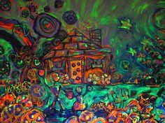 Title: Rafael y Zazil Prophecy Size: x Feet Technique: Hand-Building Materials: Acrylic Paint Building Materials, Cosmic, Sculpture, Ceramics, Painting, Beautiful, Artists, Construction Materials, Ceramica