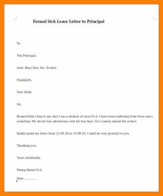 simple leave letter to class teacher