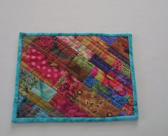 Handmade Quilted Mug Rug 152 Snack Mat Plant Mat by PeppersAttic