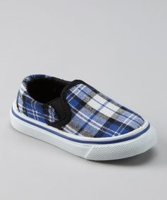 Blue Plaid Shoe by Collection'O on #zulily is the perfect way to put a little prep in your step!