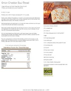 Onion Cheddar Soul Bread Recipe