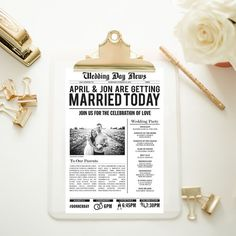 Customized Wedding Newspaper by SLCreativeDesigns on Etsy