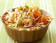 Apple and Carrot Salad Weight Watchers Recipe Apple and Carrot Salad This fruity spin on slaw is delicious Buy the season 39 s best apples and for convenience a bag of precut thickly shredded carrots 2 points serving Ww Recipes, Apple Recipes, Great Recipes, Cooking Recipes, Favorite Recipes, Healthy Recipes, Amazing Recipes, Delicious Recipes, Cake Recipes