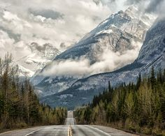 Road to the Clouds - © Jeff R. Clow One of the amazing things about Banff National Park is that views like this exist right alongside the highway. Banff National Park Canada, Bahama Breeze, Honeymoon Planning, Canadian Rockies, Wild Ones, Beautiful World, Clouds, Adventure, Mountains