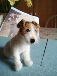 'Chip' needle felted Jack Russell