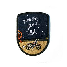"""You'll never get old, Michael. And you'll never die. But you have to feed.  3"""" x 4"""" embroidered patch with iron-on backing.  They're just noodles, Michael."""