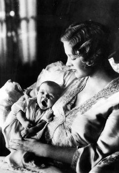 Esther Ralston (September 17, 1902 – January 14, 1994) & her baby, August 28, 1931