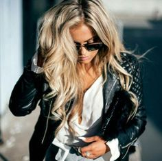 Light ash blonde hair with lots of volume. Love it