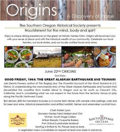 Medford, OR Enjoy a unique dining experience on the green at historic Hanley Farm. Origins will connect you with your sense of place and with the historical wealth of our community. Celebrate our local farmer… Click flyer for more >>