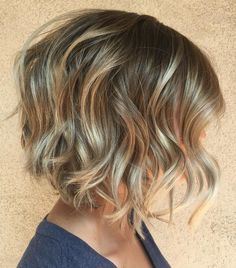 Curly Feminine Blonde Bob