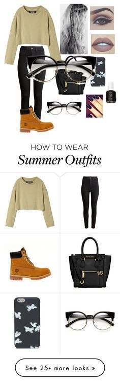 """Random Outfit #16"" by melanieangeles25 on Polyvore featuring adidas Originals, H&M, Timberland, MICHAEL Michael Kors, Marc by Marc Jacobs and Essie"