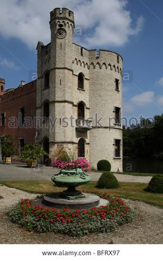 Bouchout Castle at the National Botanic Garden of Belgium at Meise (near Brussels) in Flemish Brabant, Belgium. Stock Photo