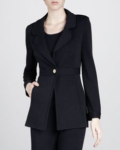 Santana+Golden+Button+Jacket,+Black+by+St.+John+Swimwear+at+Neiman+Marcus+Last+Call.  $351