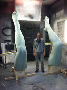 Behind the scenes: building #LadyGaga #ArtPop #Sculpture #MadebyCreativeNYC