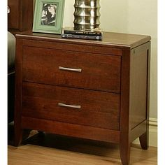 Solitude 2 Drawer Nightstand - http://delanico.com/nightstands/solitude-2-drawer-nightstand-518144795/
