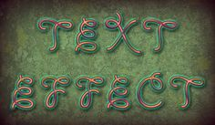 Create Art Text with Texture Brush and Lichen Background in Adobe Photoshop