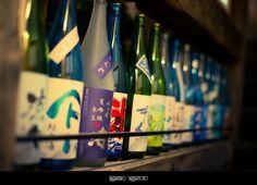 Sake bottles by Takahiro Yamamoto, via Flickr