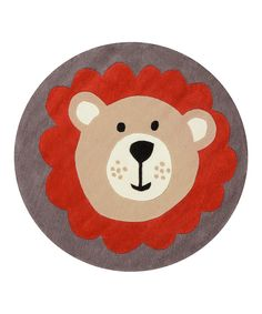 Look at this Gray Leo the Lion Rug on #zulily today!