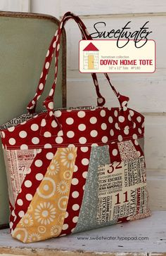 love this patchwork tote bag! Patchwork Bags, Quilted Bag, Patchwork Quilting, Tote Pattern, Bag Patterns, Quilted Purse Patterns, Pattern Fabric, Handmade Purses, Fabric Bags