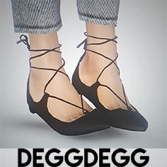 "deggdegg: "" christy flats by @theslyd, 4t3 conversion i just had to convert  my favourite ts4 shoes! mesh and texture credits go to SLYD (thank you so  much!) ..."
