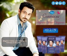 Simple and quick, #Meglow cream solves all your face problems in just 1 go! So get ready to put your best face forward like Emraan Hashmi did !! :) #beautytips #skincare #glowingskin #bebeautiful #stayyoung #leeford #leefordcosmacia