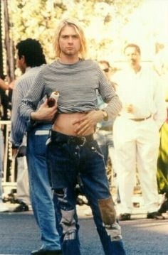Image result for kurt cobain stomach