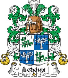 Ledoux Family Crest apparel, Ledoux Coat of Arms gifts