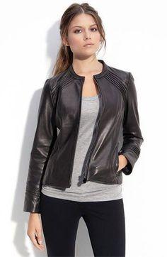 Womens Trendy Black Leather Jacket