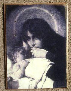 Virgin Mary Icon, Stunning Devotional Beauty, The Vision, Rare Catholic Image, 5x7
